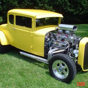 Chopped 31 Ford coupe